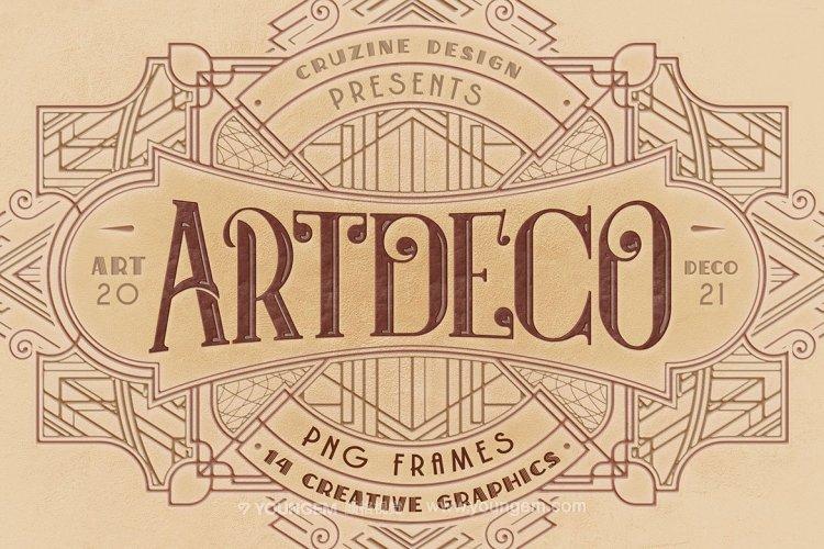 14款ArtDeco现代工业装饰机械几何边框背景底纹png免抠设计素材素材