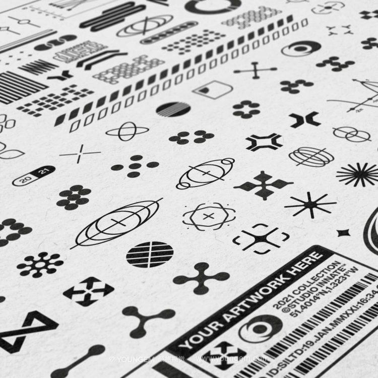 230款时尚潮流现代抽象艺术几何赛博朋克logo图形ai矢量设计素材素材