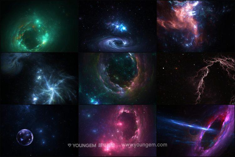 50款高清炫彩抽象艺术科幻宇宙科幻未来游戏背景底纹图片设计素材模板